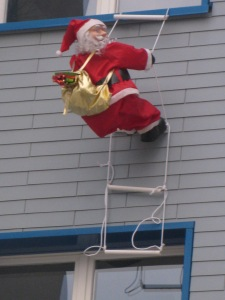 Santa Practicing His Entry