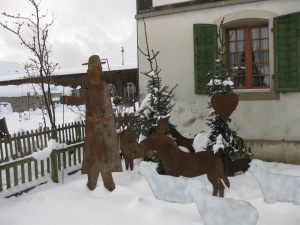 Swiss artful humor in the snow. (Jo McIntyre)